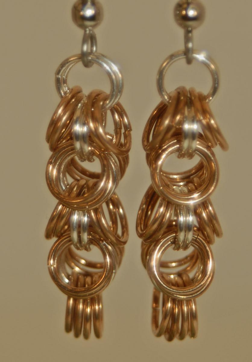 Copper Shaggy Loops w Fine Silver Center earrings web.jpg