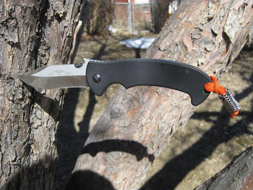 Knife lanyard. Emerson CQC-13, Euro 4, Titanium 18g 5/32ID