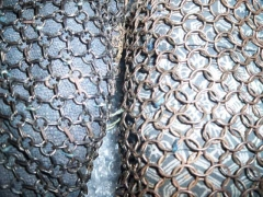 Antique Edo period chainmail sample