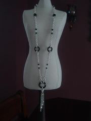 3 crystal rings Necklace