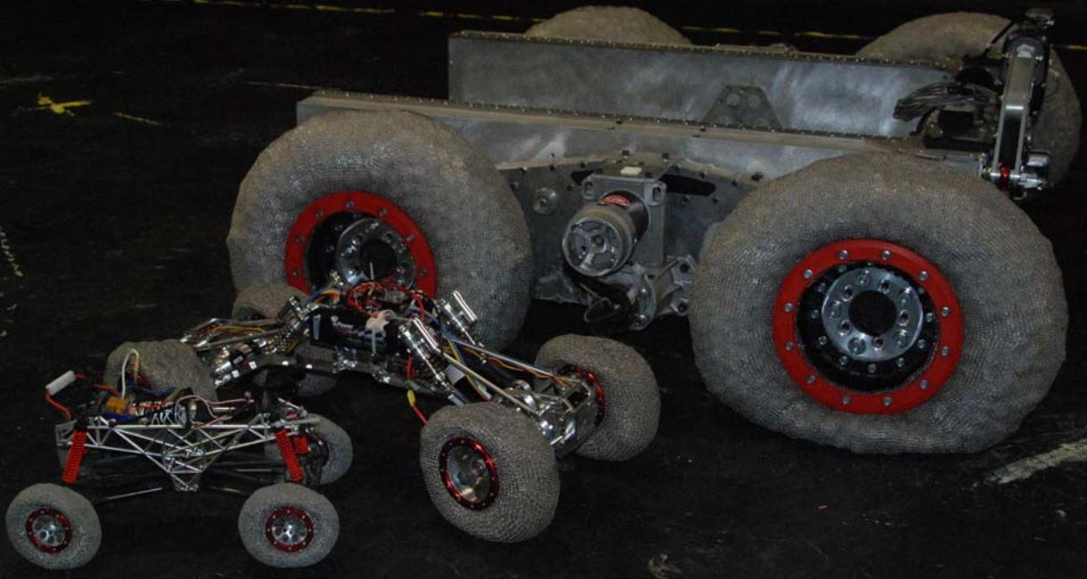 Lunar Rovers with Chainmail Tires