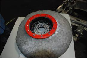 Lunar Rover Tires in chainmail