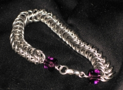 Stainless Steel Box with Swarovski cube endings by Lawless Lady