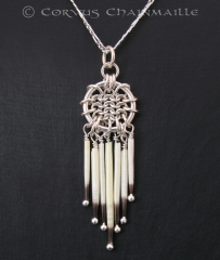 American Porcupine Quill pendant