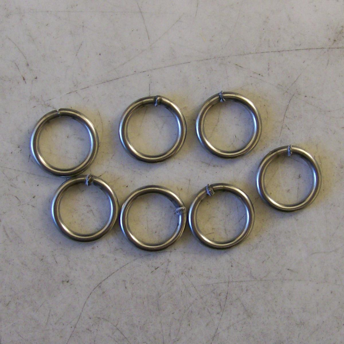 16ga 7.00mm Stainless Rings Welded With The new TRL Resistance Welder.