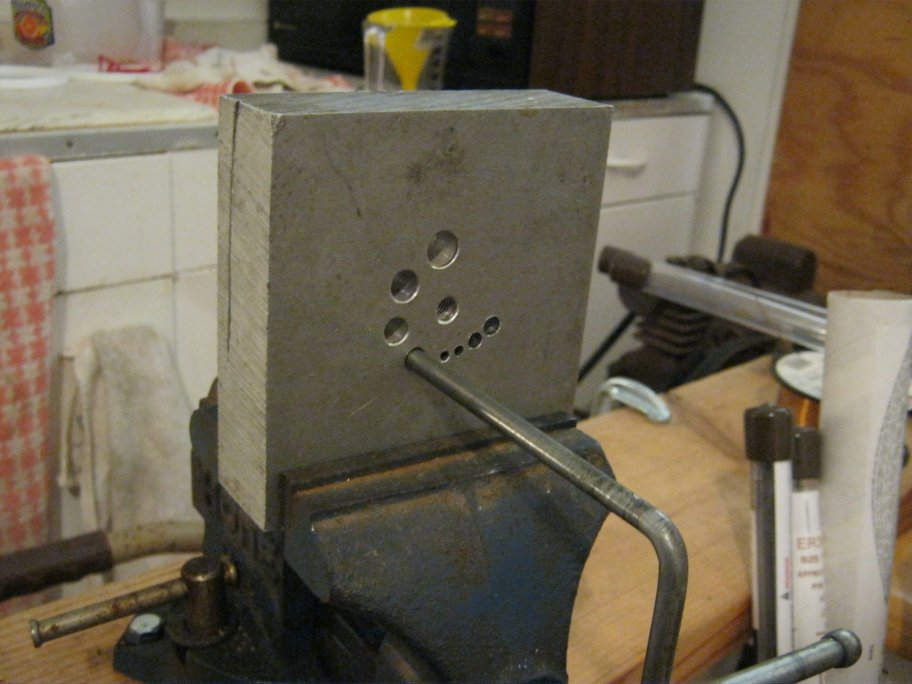 Coiling jig (rear)
