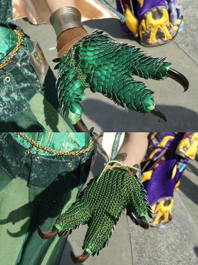 Scaled Dragon Hands (Gloves)