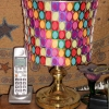 Lampshade made from Stamping 'Rings'