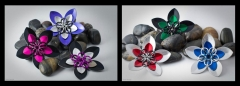 Double Scale Flower Brooches