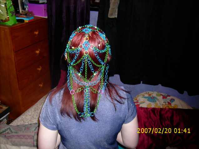 back view of headdress