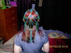back view of headdress