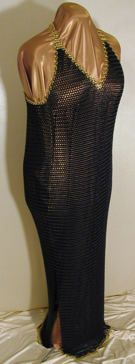 Chainmail evening gown, front