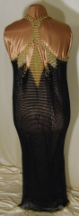 Chainmail evening gown, back