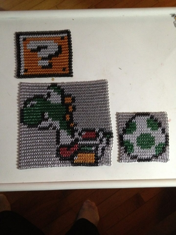 yoshi, egg, and qustion mark box