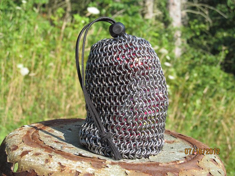 Dark Annealed Steel Dice Bag