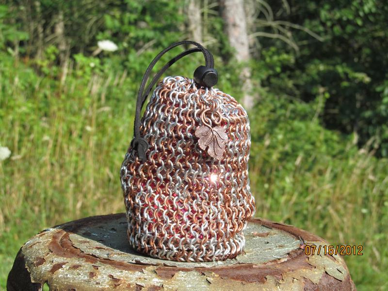 Aluminum and Copper Dice Bag