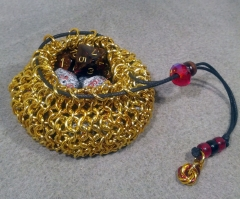 Gold Dice Bag