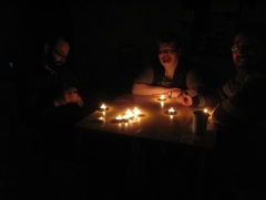 Cards during Earth Hour