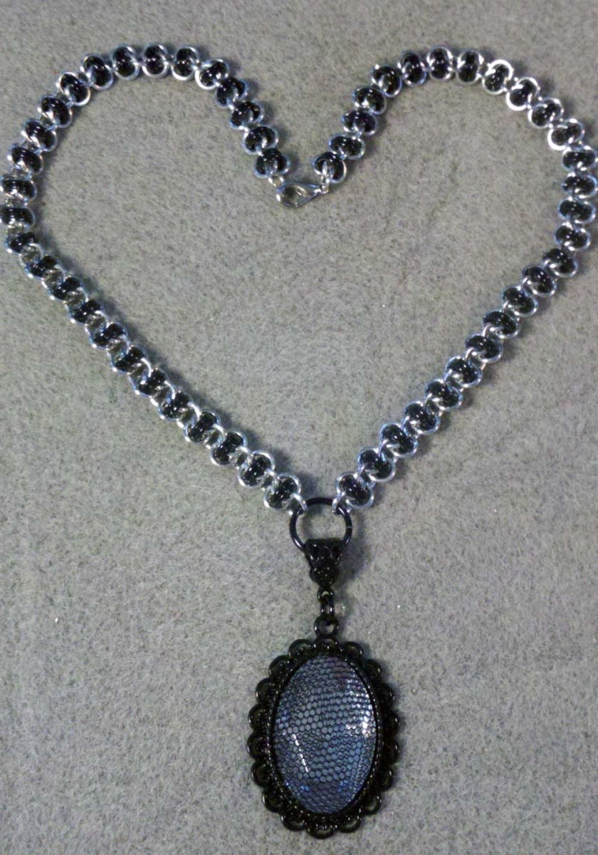 Black and BA Barrels Necklace