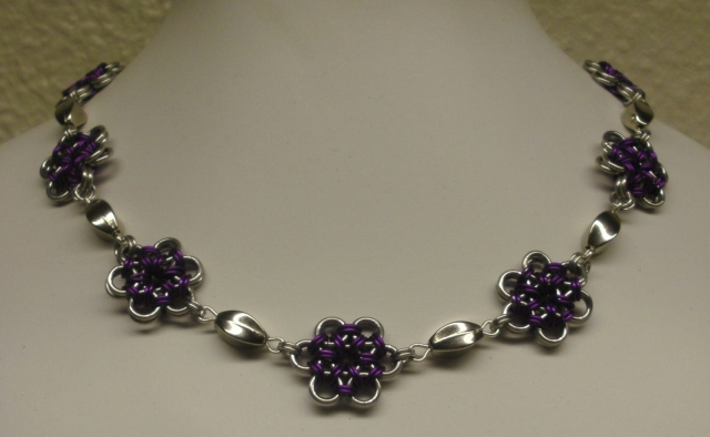 Japanese Flowers Necklace
