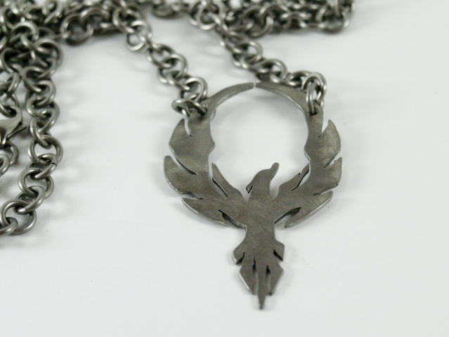 Basic 1x1 chain with Phoenix Pendant