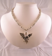 Sterling Dragon Necklace