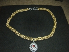 Byzantine Necklace w/ Whirlybird Pendant