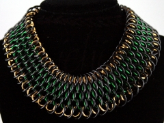 Black, green, and gold dragonscale