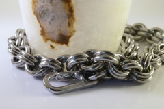 Stainless Steel 2x2 Necklace in 8g AWG rings