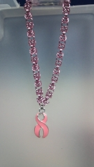 Pink Breast Cancer Bracelet