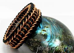 bronze silcone bracelet