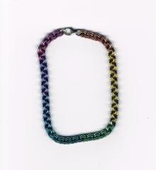 Bracelet, niobium, double chain (1)