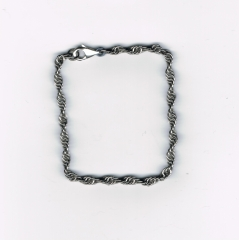 Bracelet, stainless steel, twist