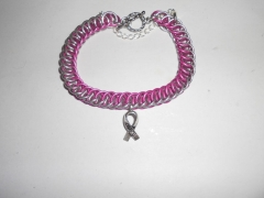 Pink and Silver Hope Bracelet