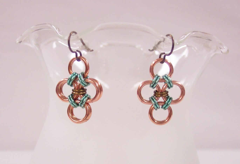 Morganna Japanese cross earrings