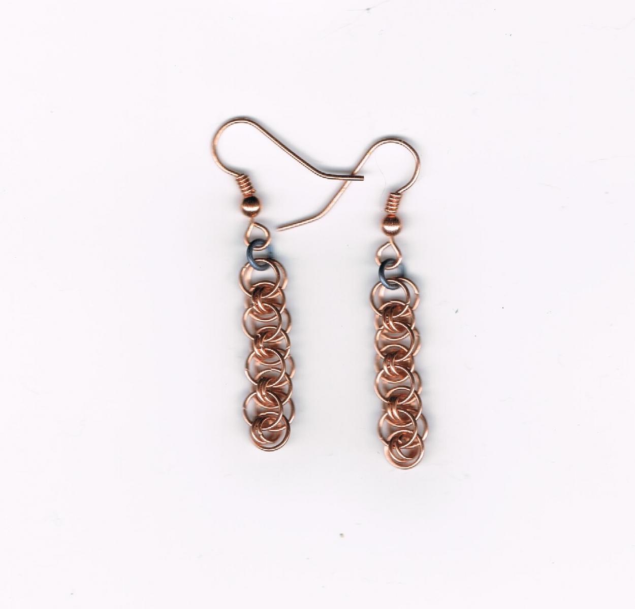 Earring, copper, Japanese