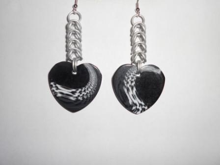 White box with heart pendants