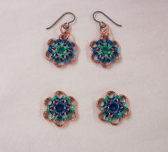 Japanese Flower earrings  4