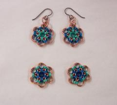 Japanese Flower earrings  4