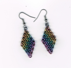 Earring, niobium, 4 In 1 (2)