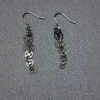 Psuedo Silver Steampunk Earrings
