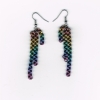 Earring, niobium, double chain