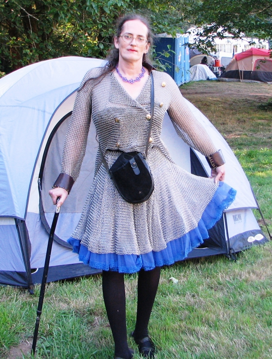 Chainmaille Tailcoat & Skirt Set