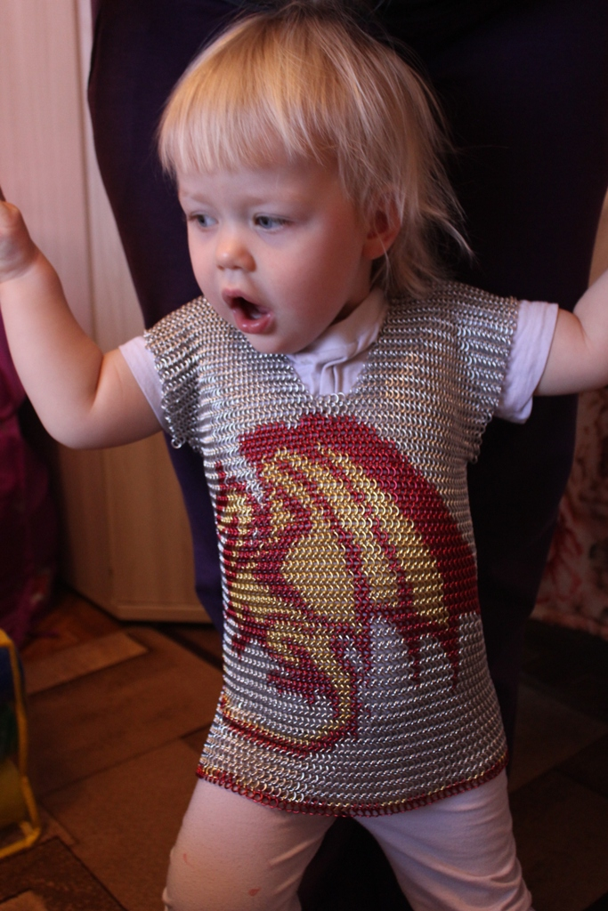 Chainmail shirt with Dragon1