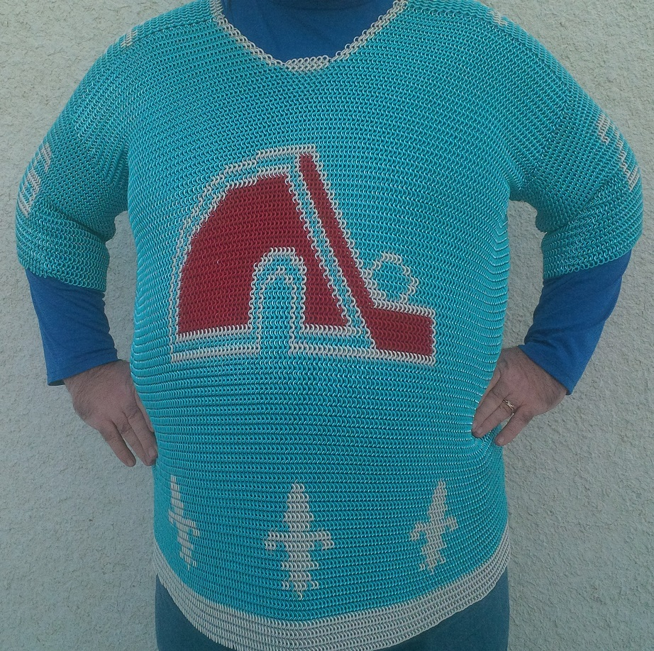 Quebec Nordiques Chainmaille Hockey Jersey