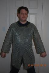 Bright aluminum shirt