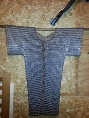 stainless steel shirt hanging up button up at front