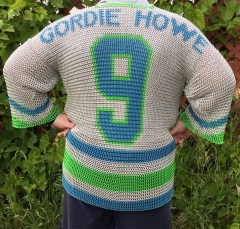 Hartford Whalers chainmail jersey back