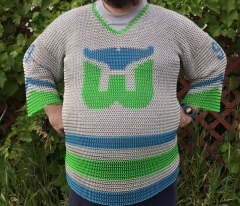 Hartford Whalers chainmaille hockey jersey front