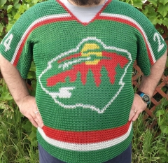 Minnesota Wild chainmaille hockey jersey front